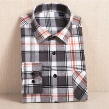 Men Solid Color Comfortable Casual Long-sleeved Turn-down Collar Shirt