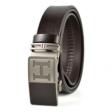Fashion Casual Luxury Automatic Buckle Genuine Leather Mens Belt Waistband Strap