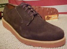 Gorilla Shoes Dark Brown Suede Vibram Leather Wedge Sole USA Made 32191