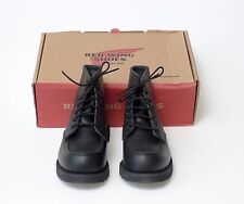 RED WING 8137 BLACK SKAGWAY LEATHER 6 INCH MOC TOE BOOTS LIMITED EDTION NIB
