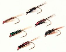 3 DIAWL BACH(Little Devil) Flies 6 Types Midge Buzzers Trout Fly Fishing#10,12