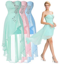 Short Long SEMI Formal Evening Bridesmaid Dress COCKTAIL Prom Party Ball Gowns