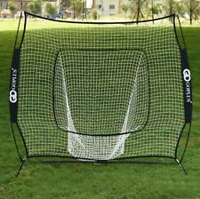 Pitching 7 ft Baseball Softball Practice Net Hitting Batting Training Frame Net