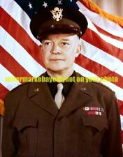 General Dwight D Eisenhower, U.S. Army  Color Photo Military WWII 1943 Soldier
