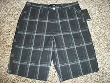 HURLEY New NWT Mens Walk Casual Shorts Black Plaid 31 32 33 34 30
