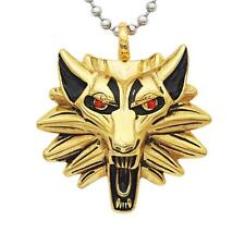 Mens Hip Hop Necklace Stainless Steel Wolf Pendant Chain Jewelry Gift