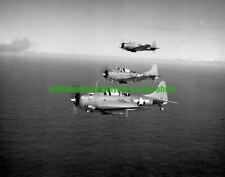 SBD  Dauntless Scout Bombers  Photo Military  Black n White 1943 WW2 Aircraft