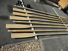 Rowing Oars varnished  3Meter Pair New with sleeves Scandinavian manufacture.