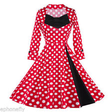 50'S ROCKABILLY DRESS Vintage Flare Big Swing Pinup Housewife Party Dress Gown