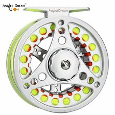 Fly Reel Combo 3/4 5/6 7/8WT Large Arbor Fly Fishing Reel WF Fly Line Leader