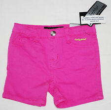 NWT Baby Phat Designer Infant Girls Neon Pink Sequin Shorts Sz 12M