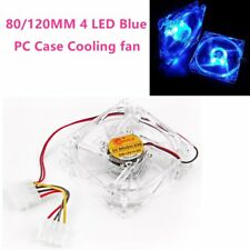 80/120mm 4LED Blue 4 Pin Cooling Fan Blue For Computer Case CPU Cooling Cooler G