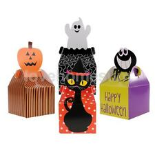 10x Happy Halloween Treat Boxes Trick Or Treat Gift Loot Candy Box Party Favors