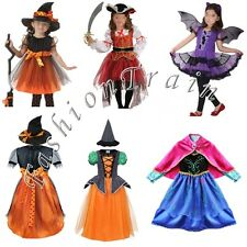 Girls Kids Pirate Fairy Halloween Costume Outfits Party Fancy Dress Up Clothes