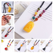 Folk-Custom Vintage Jewelry  Pendant Necklace Water Droplets Agate Necklace