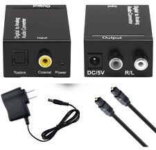 Toslink Signal Optical Coaxial Digital to Analog Audio Converter Adapter RCA L/R