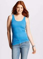 Mossimo Long & Lean Baby Blue Ribbed Textured Tank Top NWT Womens Size XS