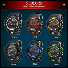 Sport Watch Men's Fashion Analog Quartz LED Digital Waterproof Military Watches
