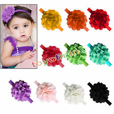Cute Kids Girl Baby Headband Toddler Chiffon  Flower Hair Band Bow Accessories