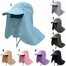 1pc Hiking Fishing Hat Outdoor Sport Sun Protect Neck Face Flap Cap Wide Brim