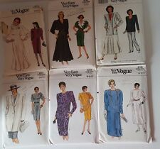 Vogue Womens 1980s Vintage Dress Pants Skirt Suit Very Easy Sewing Pattern