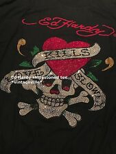 Ed Hardy rhinestoned t shirts NWT authentic items!!