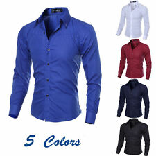 Luxury New Fashion Mens Slim Fit Shirt Long Sleeve Dress Shirts Casual Shirt 152