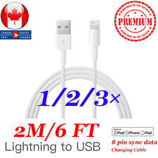 2m/6Ft Premium Lightning to USB Charging Cable For Apple iPhone 6S, 7 Plus  8 X