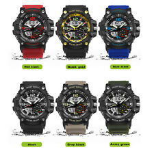 Mens Waterproof Military Watches Sport Watch Quartz Stainless Steel Wristwatch