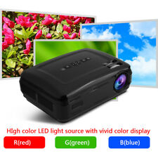 1080P Full HD LED Mini Projector Theater Cinema MulitMedia TV VGA SD HDMI LOT CL