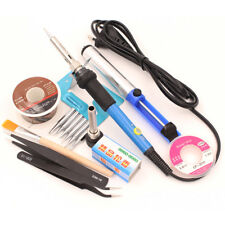 230V/220V 60W Electric Soldering Iron Repair Tool Kit Solder Wire Tweezers Stand
