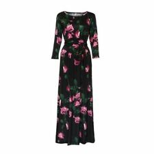 Women Floral Printed O Neck Casual Long Sleeve Party Maxi Dress (US Shipping)