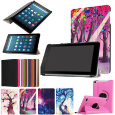 Folding Stand Leather Case Cover For Amazon Kindle Fire HD 8'' /7'' Tablet Skins