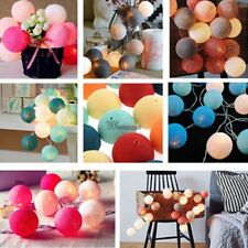 New 20LED Cotton Ball String Light Holiday Wedding Party Christmas WT8802