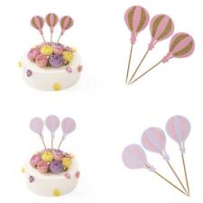 3pcs Hot-air Balloon Style Cake Topper Cupcake Picks Wedding Party Decorations