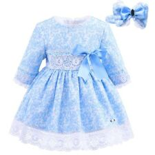 Toddler Girl Dress and Headband Set Cotton Lace Textured Princess Party Pageant