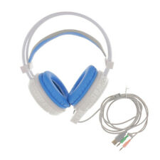 Wired Backlight Headphones Mic Adjustable Stereo PC Gaming Headset Colorful