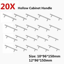 20pcs/set Modern Stainless Steel T-type Hollow Round Tube Cabinet Handle U@