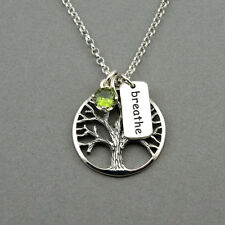 Tree of Life Necklace 925 sterling silver tree necklace yoga jewelry pendant