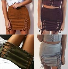 Sexy A-line Women Bandage Skirt Wear to Work Junior Lace-up Clubbing Mini Skirt
