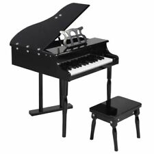 Children's 30 key Toy Grand Baby Piano Black Pink Wooden Kids Piano w/ Bench NEW