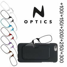 N OPTICS Reading Glasses Thin Frame 7 Color Strenght +1/+1.5/+2/+2.5/+3/ + Case