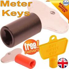 Service Utility Meter Key Gas Electric Box Cupboard Cabinet Metal/Plastic Collar