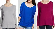 NWT $295 Vince Wool Cashmere Boatneck Sweater Pullover