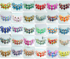 Wholesale 5pcs Silver MURANO beads LAMPWORK fit European Charm Bracelet Chain