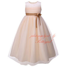Flower Girl Dress Formal Wedding Bridesmaid Pageant Princess Party Tulle Dresses