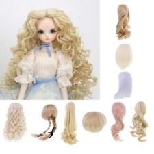 Doll High-temperature Wire Curly Hair Wig for 1/4 BJD SD Dollfie Doll DIY Making