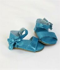 """Doll Clothes AG 18"""" Shoes Teal Sandal Sparkle Made To Fit American Girl Dolls"""