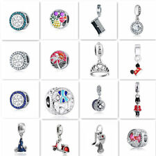 1pcs Silver CZ European Charm Beads Fit 925 Necklace Bracelet Pendant Chain DIY