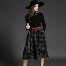 New Fashion Long Sleeve Two-piece Knit Dress For Women EQ554